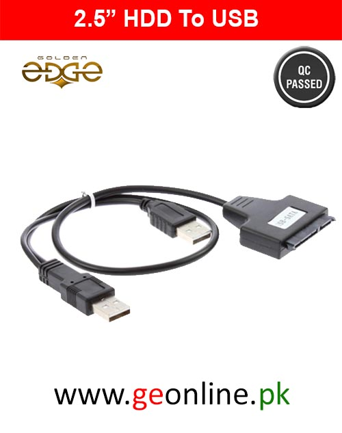 "USB 2.0 to SATA 7+15 Pin 22 For 2.5"" HDD"