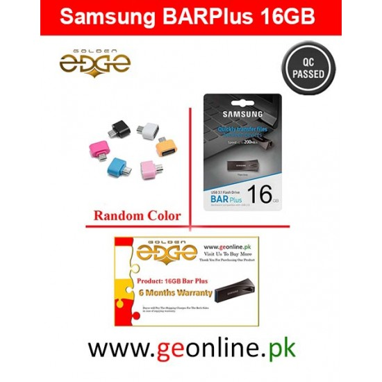 USB Samsung Flash Drive Metal - 16GB BAR Plus Black