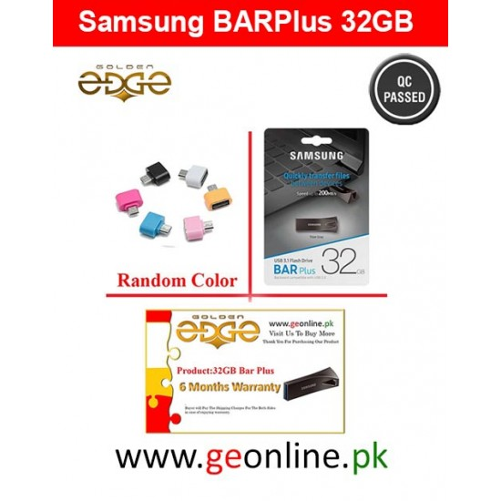 USB Samsung Flash Drive Metal - 32GB BAR Plus Black