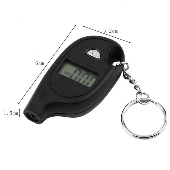 Air Pressure Digital Mini Gauge Keyring