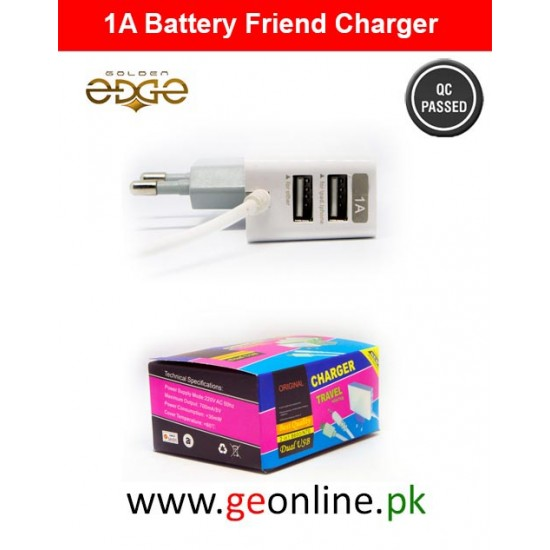 Mobile Charger Battery Friend 1A White 3 in 1