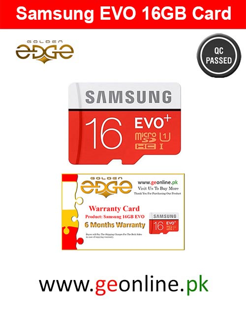 Memory Card Samsung 16GB EVO 100MB/Sec  Micro SD China