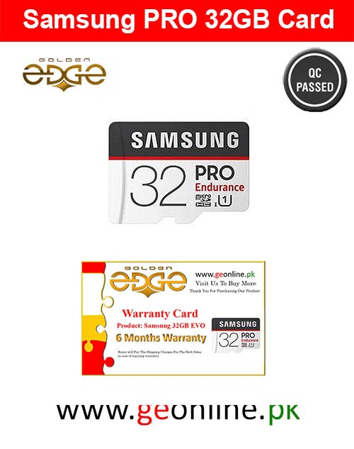 Memory Card Samsung 32GB PRO 100MB/Sec  Micro SD China