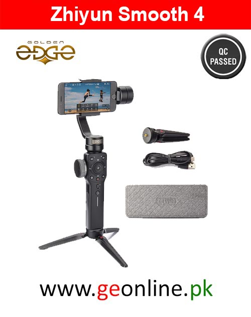 Zhiyun Smooth 4 Stabilizer Handheld Gimbal PhoneGo Mode - BLACK
