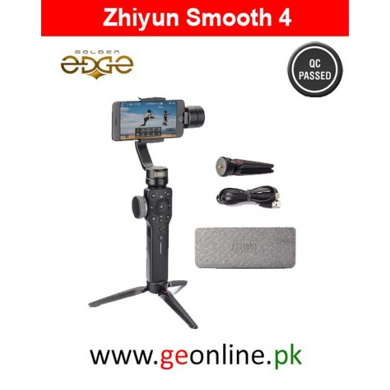 Stabilizer Zhiyun Smooth 4 Stabilizer Handheld Gimbal PhoneGo Mode - BLACK