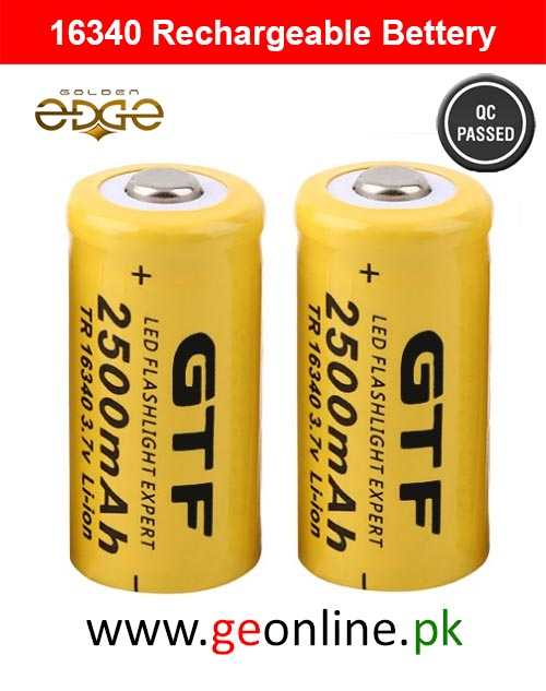 16340 Rechargeable Bettery 2500mAh