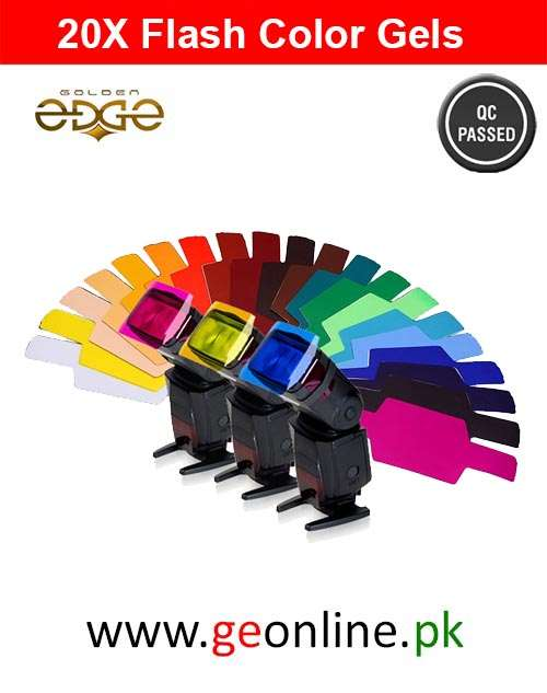 Flash Diffuser Color Gels 20x
