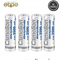 Battery AA Camelion 2500mAh Rechargeable 4 Cell Pack