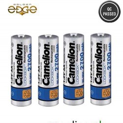 Battery AA Camelion 2700mAh Rechargeable 4 Cell Pack