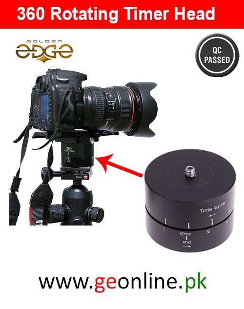 Tripod 360 Degrees Rotating Time Lapse Stabilizer Head For DSLR