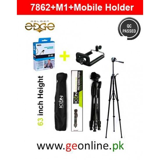 Tripod Icon 7862 +  Boya M1 + Mobile Holder Deal