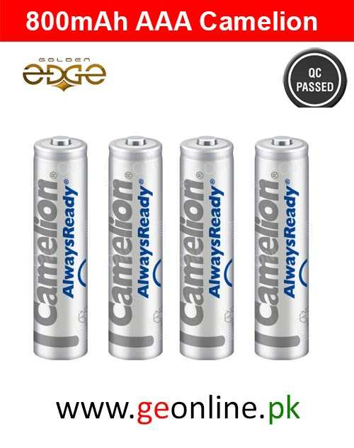 Battery AAA Camelion 800mAh Always Ready Rechargeable 4 Cell Pack