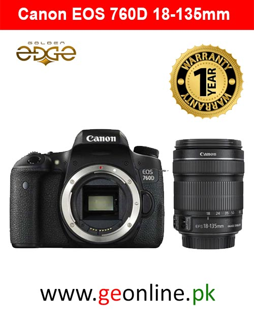 Canon 760D With 18-135mm STM   (1 Year MBM Warranty)