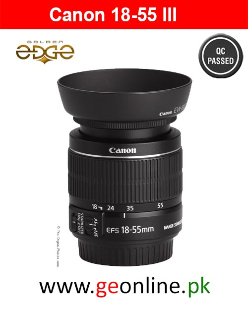 Lens Canon EF-S 18-55mm f/3.5-5.6 III + Hood+Filter Used