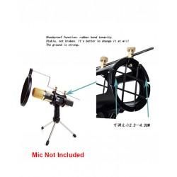 Pop Filter Microphone Stand Tripod Boom Holder Desk Microphone Stander