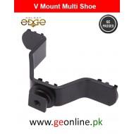 Tri Hot Shoe V Mount Bracket - Black