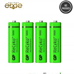 Battery AA GP Power 1000mAh Rechargeable 4 Cell Pack