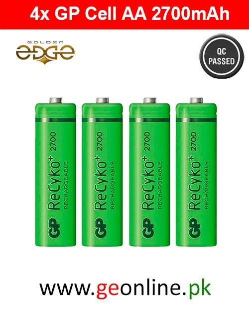 Battery AA GP Power 2700mAh Rechargeable 4 Cell Pack
