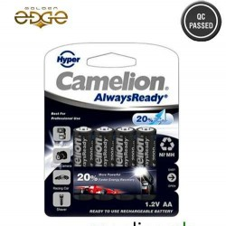Battery AA Camelion 2000mAh Rechargeable 4 Cell Pack Hyper