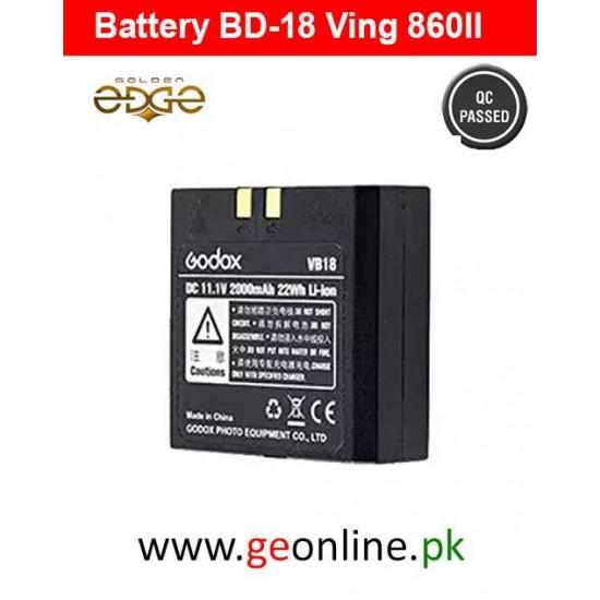 Battery GODOX VB18 LION FOR V850/V860 860II 860C 860N