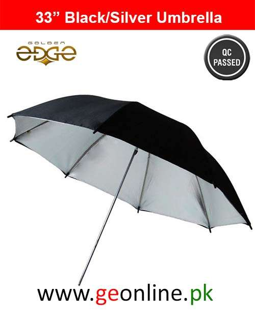 Black White Reflective Umbrella 2 Pieces