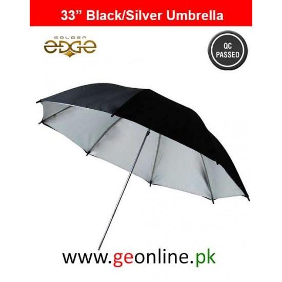 Black White Reflective Umbrella For Studio Lighting Strobes