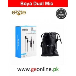 Mic Boya BY-M1DM M1-DM Lavalier Double Collar Microphone for ALL Devices (1 Year Warranty)