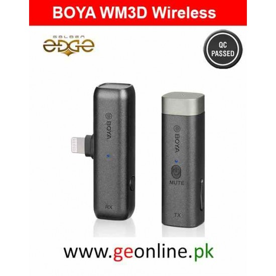 Mic Boya WM3D Wireless For Iphone Andriod PC Laptop DSLR and Camcoders