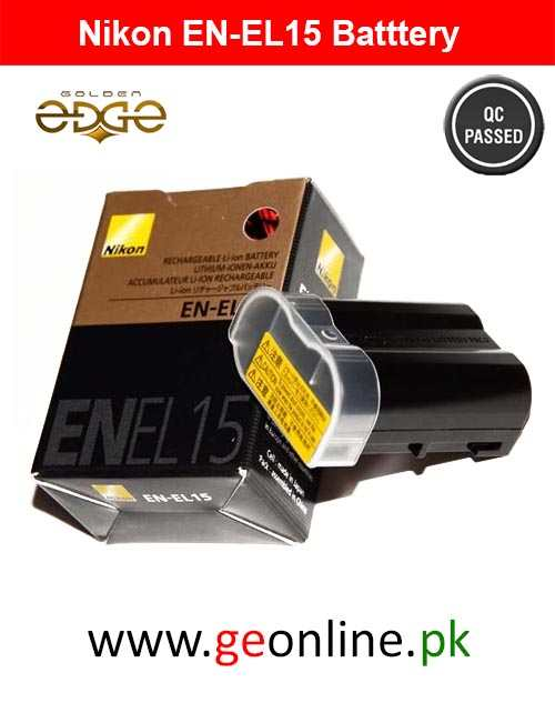 Battery Nikon EN-EL15 D610 D7100 D810 V1 Series