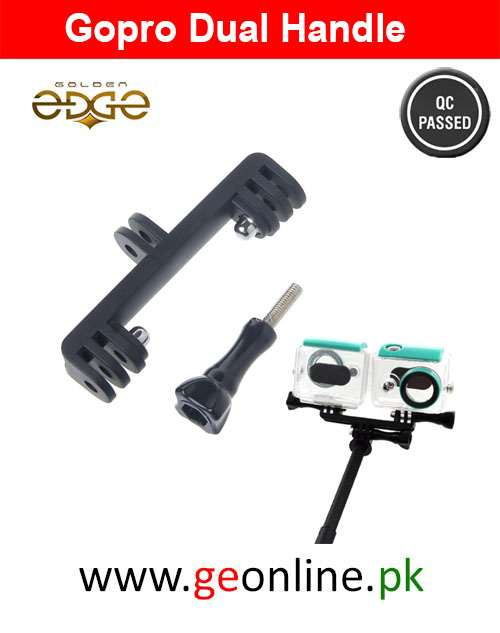 Gopro Double Dual Sport Camera Holder Handle Grip Monopod Mount
