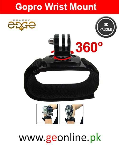 Gopro Accessories 360 Degrees Gopro Wrist Band Arm Shell Strap