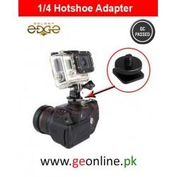 1/4 Hot Shoe To Tripod Mount Adapter Single Screw
