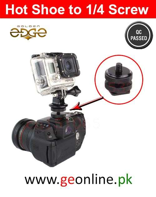 1/4 Hot Shoe To Tripod Mount Adapter