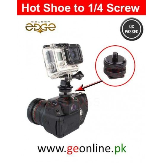 1/4 Hot Shoe To Tripod Mount Adapter