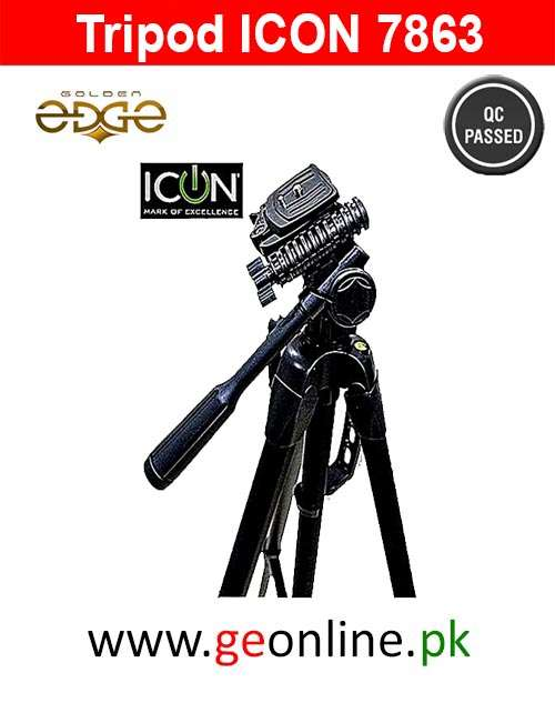 Icon Two In One (Mono Pod+Tripod) Tripod 7863 Professional Edition For Video