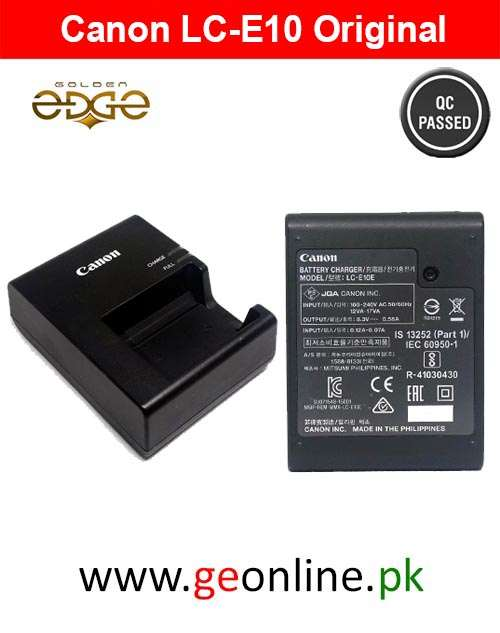 Charger Canon LC-E10 Original That Comes With Camera For 1100D 1200D 1300D T3 X50
