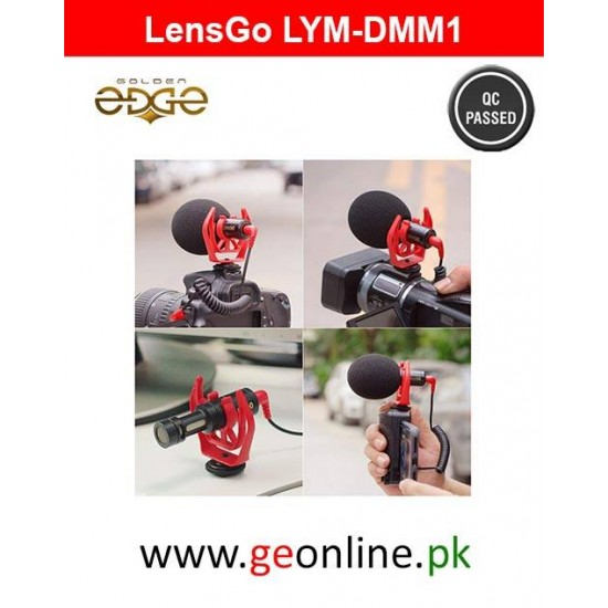 Mic LYM-DMM1 Universal Cardiod Shotgun Microphone for iPhone 7 6 6s Xiaomi Smartphone Mac Tablet Canon DSLR Camera Camcorder