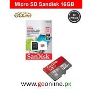 Memory Card SanDisk 16GB Micro SD 48MB/Sec Ultra