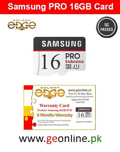 Memory Card Samsung 16GB PRO 100MB/Sec  Micro SD China