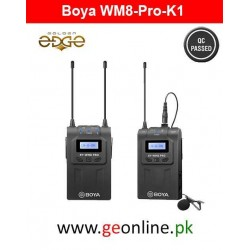 Mic BOYA -WM8 Pro-K1 UHF Wireless Microphone System 48 Channels Mono/Stereo Mode LCD Display 100M Effective Range for Canon Nikon Sony DSLR Cameras Camcorders