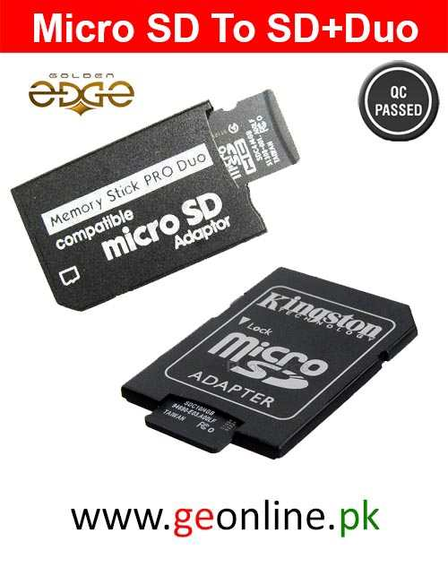 Memory Card 2 in 1 Micro SD TF To Sony Duo + SD adopter