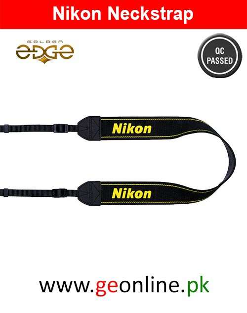 Neck Strap Nikon Yellow Black