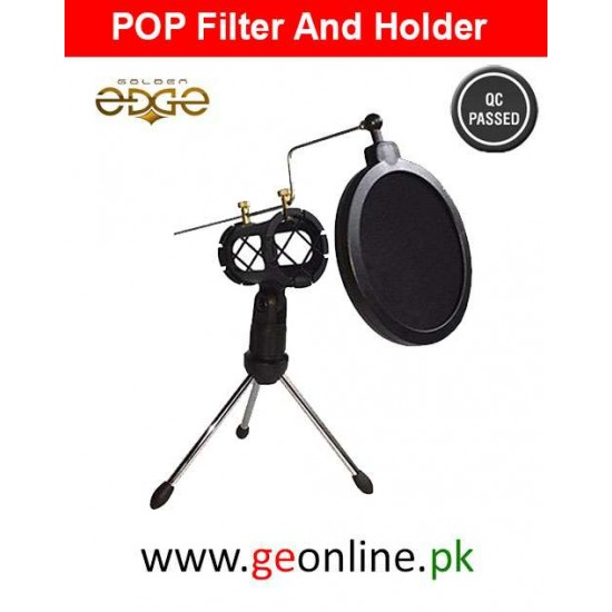 Pop Filter Microphone Stand Tripod Boom Holder Desk Microphone Stander