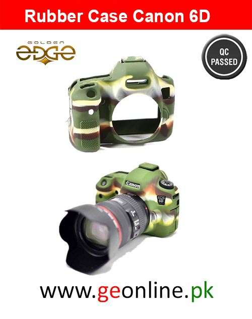 Rubber Case 6D Silicone Camera Easy Cover Green