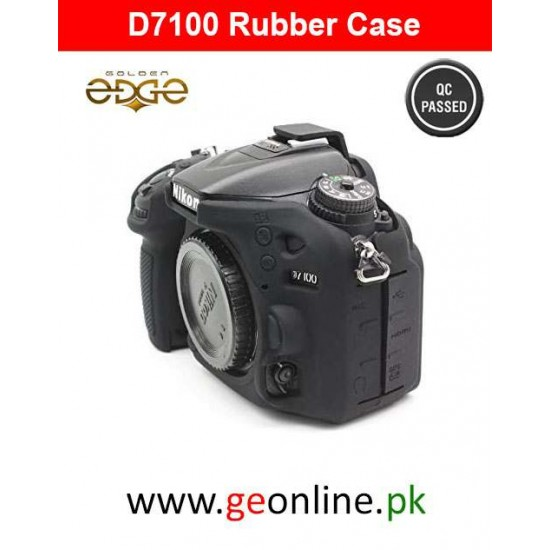 Rubber Case Nikon D7100 D7200 Silicone Camera Easy Cover Black