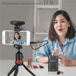 Mic BOYA BY-WM4 Pro K1 Universal Lavalier Wireless Microphone Mic Smartphone iPad Tablet DSLR